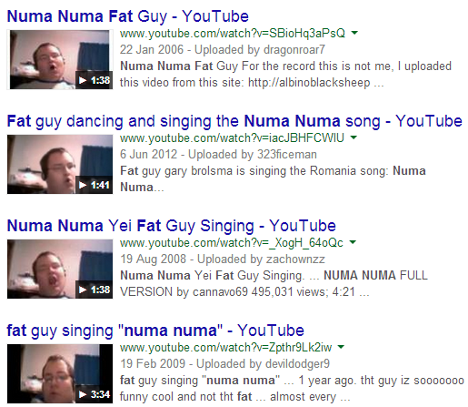 fat guy singing numa numa song № 80596